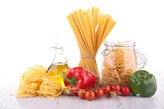 Mixed pasta Stock Image