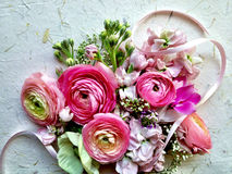 Mixed pastel spring flowers Stock Image