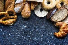Mixed of pastry bread set Royalty Free Stock Photo