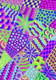 Mixed  patterns. Stock Image
