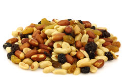 Mixed peanuts and raisins Royalty Free Stock Images