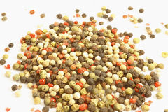 Mixed pepper. On the white background Stock Images