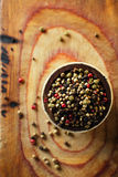 Mixed pepper, pink, black, white, green Royalty Free Stock Photos