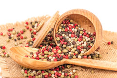 Mixed peppercorns Stock Photography