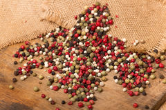 Mixed peppercorns Royalty Free Stock Photos