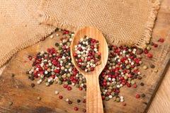 Mixed peppercorns Royalty Free Stock Photo