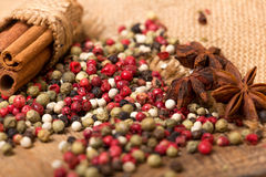 Mixed peppercorns Royalty Free Stock Photography