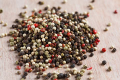Mixed peppercorns Stock Photos