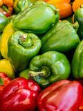 Mixed peppers background Royalty Free Stock Images