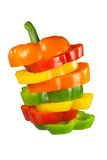 Mixed peppers in a stack Royalty Free Stock Photography