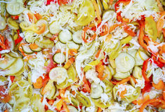 Mixed pickled salad. Pickled vegetables in mixed salad Royalty Free Stock Photo