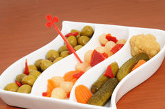 Mixed pickles Stock Image