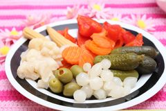Mixed pickles Royalty Free Stock Images