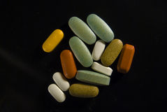 Mixed Pills Stock Photo