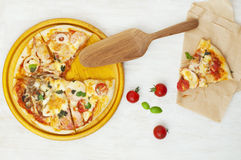 Mixed pizza Stock Images