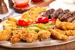 Mixed platter Stock Image