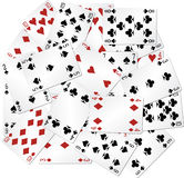 Mixed playing cards Stock Image