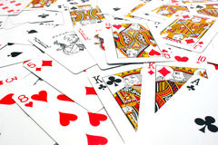 Mixed playing cards Royalty Free Stock Image