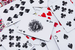 The mixed poker cards, gambling card Stock Photos