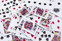 The mixed poker cards, gambling card Stock Image