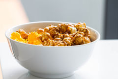 Mixed popcorn in bowl Stock Images