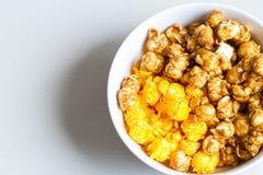 Mixed popcorn in bowl Stock Photos