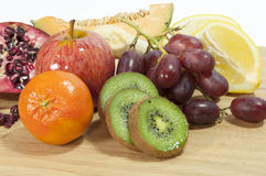 Mixed fruit on board Stock Photography
