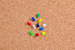 Mixed Pushpin, Thumbtacks Macro Royalty Free Stock Images