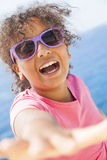 Mixed Race African American Girl Child Sunshine Sunglasses Royalty Free Stock Images