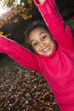 Mixed Race African American Girl Playing in Park Royalty Free Stock Image