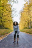 Mixed Race African American Girl Teenager Fitness Running Royalty Free Stock Images