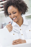 Mixed Race African American Girl Using Tablet Computer Royalty Free Stock Photo