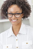 Mixed Race African American Girl Wearing Glasses Royalty Free Stock Photo