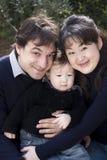 Mixed race asian caucasian family royalty free stock photo