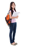 Mixed race Asian teen student Stock Image