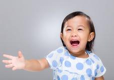 Mixed race baby scream Royalty Free Stock Photos