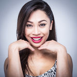 Mixed Race Beauty Laughing Stock Image