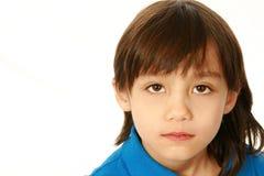 long hair boy in photo studio stock image  image 27754313