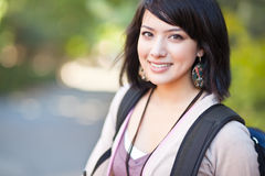 Mixed race college student Royalty Free Stock Photos