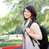 Mixed race college student Royalty Free Stock Photo