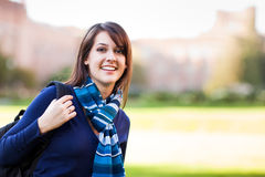 Mixed race college student stock image