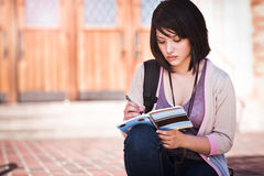 Mixed race college student Royalty Free Stock Images