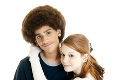 Mixed-race couple Royalty Free Stock Photos