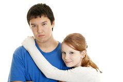 Mixed-race couple Stock Images