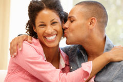 Mixed race couple at home Royalty Free Stock Photography