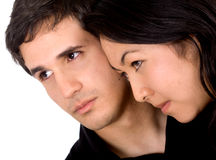 Mixed race couple in love Stock Image