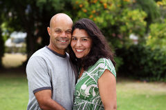 Mixed race couple outside Royalty Free Stock Photo