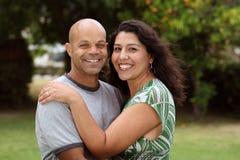 Mixed race couple outside Stock Photography