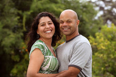 Mixed race couple outside Stock Images