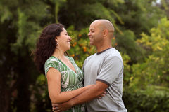 Mixed race couple outside Royalty Free Stock Images